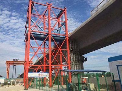 高铁路桥罐车提升机