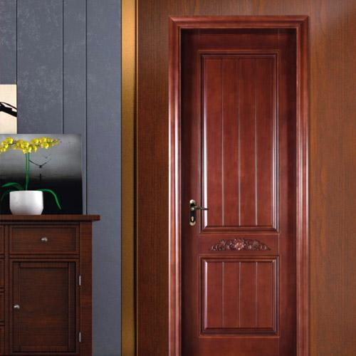 卧室原木门