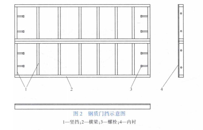 图2 钢质门挡示意图