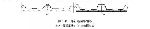 图5-49 螺钉连接彩钢板