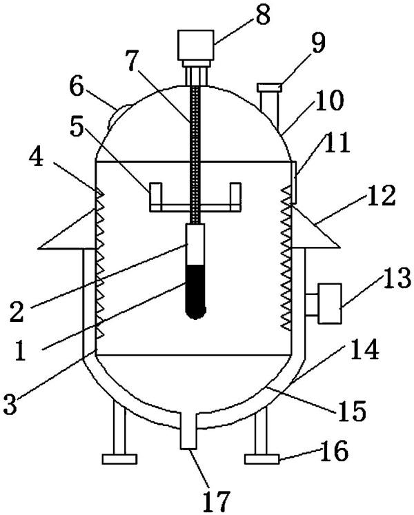 一体反应釜结构图