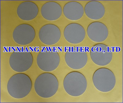 Washable Sintered Filter Disc