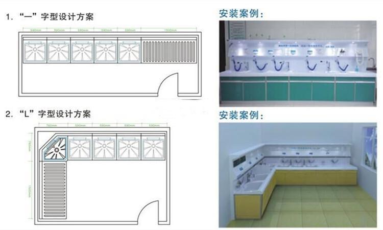内镜清洗工作站设计方案+安装案例1
