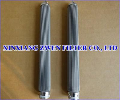 Washable Pleated Sintered Fiber Felt Filter Cartridge