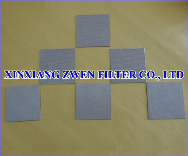 SS Sintered Metal Filter Plate