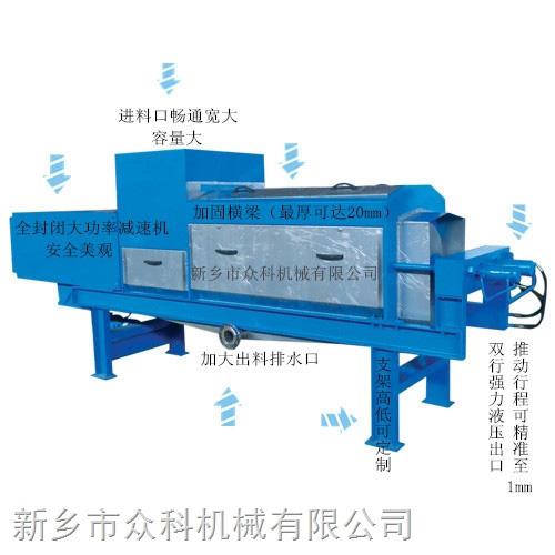 沼气渣压榨机结构图