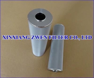 Washable Cylindrical Sintered Fiber Felt Filter Cartridge