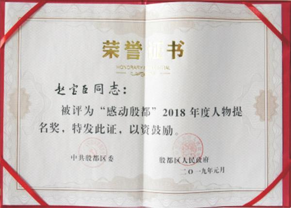 2018年度人物提名奖