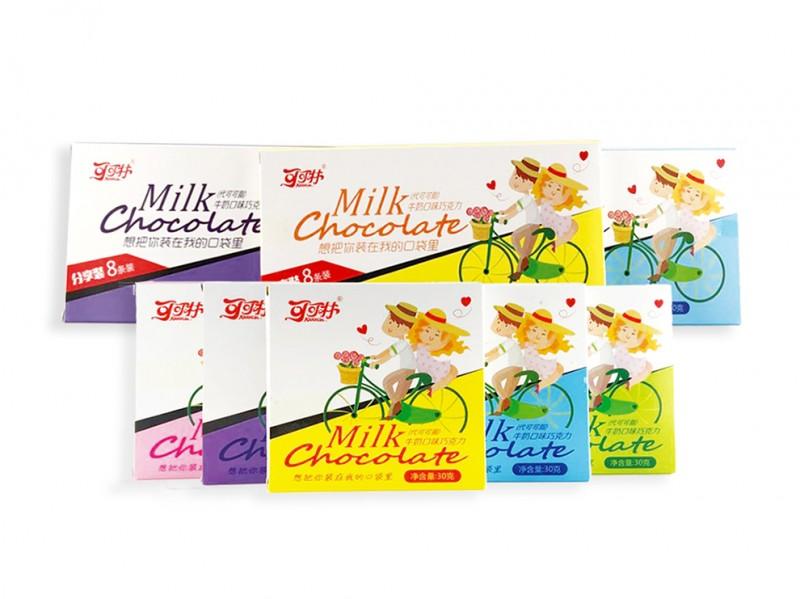卡通盒装巧克力