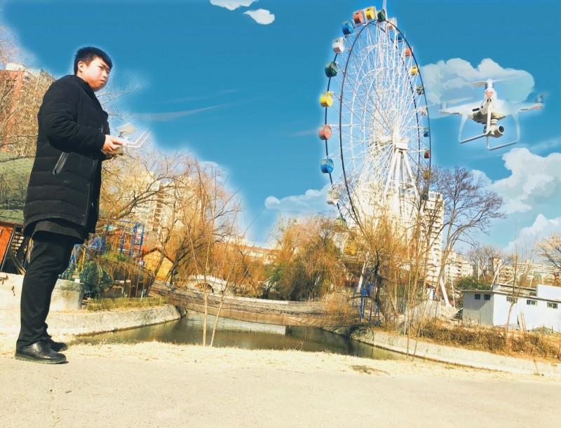 人民公园无人机航测