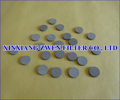 SS Sintered Metal Filter Disc