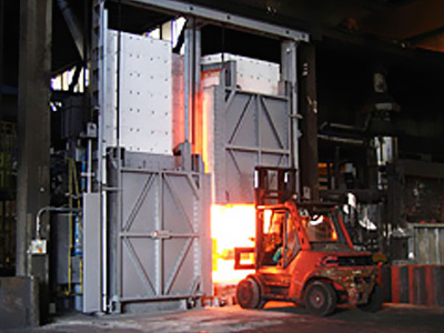 Box type heat treatment furnace