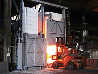 Box type heat treatment furnace