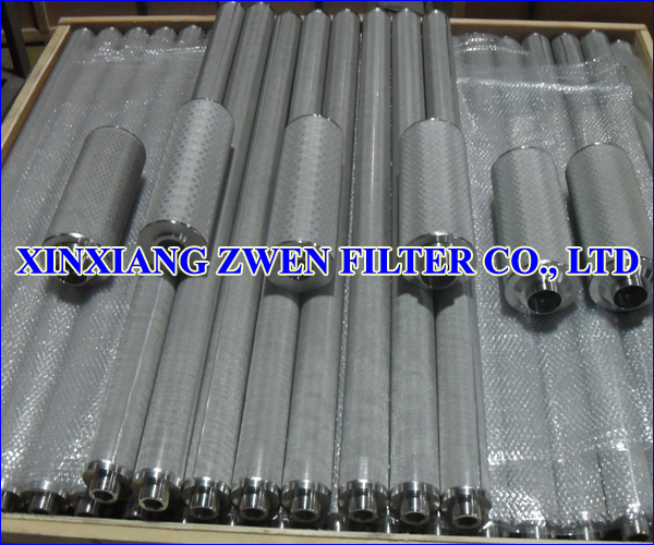 Cylindrical Sintered Wire Mesh Filter Cartridge