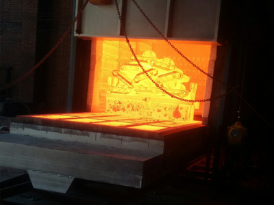 Electric heating trolley furnace