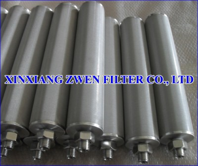 Cylindrical Sintered Metal Filter Element