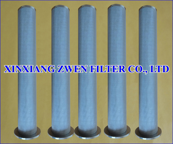 Cylindrical Sintered Metal Filter Cartridge