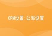 CRM公海设置