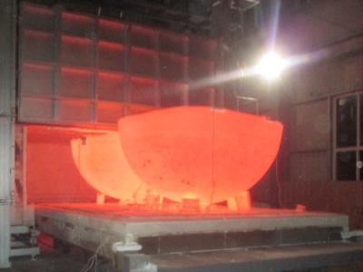Natural gas trolley furnace