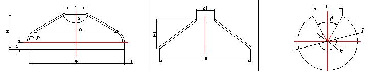 折边锥形封头图纸
