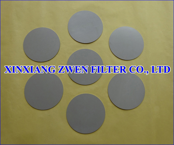 316L Sintered Porous Filter Disc