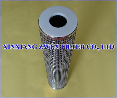 Washable Pleated Sintered Fiber Felt Filter Cartridge
