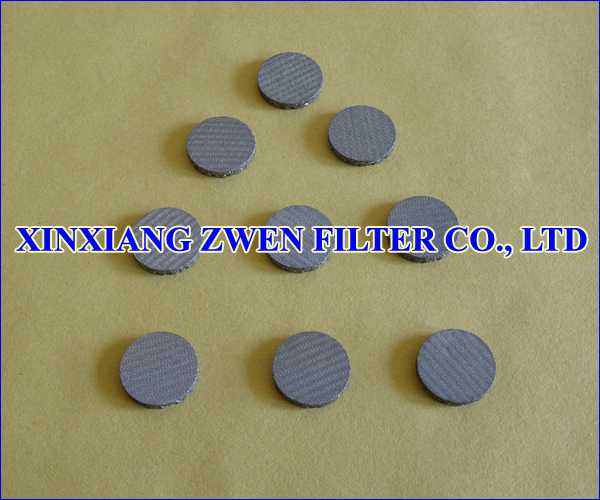 Stainless Steel Sintered Wire Mesh Filter Disc