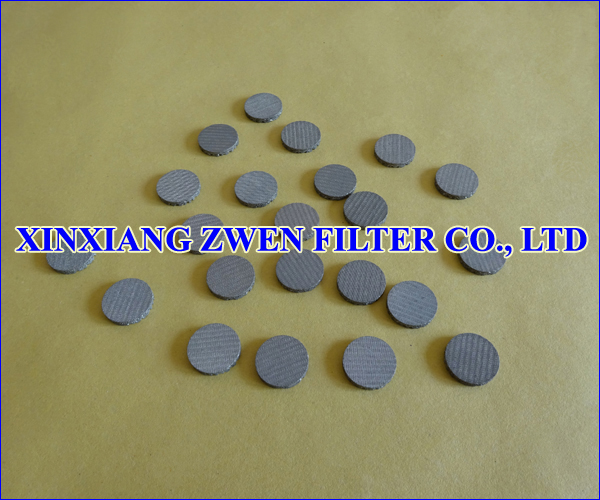 Stainless Steel Sintered Mesh Filter Disc