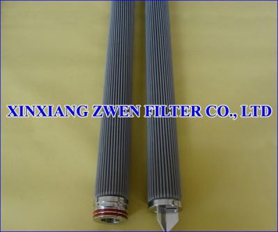 Washable Pleated Sintered Fiber Felt Filter Element
