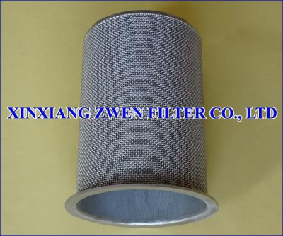 Cylindrical Sintered Wire Cloth Filter Cartridge