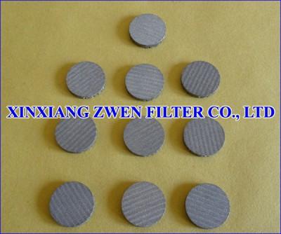Multilayer Sintered Metal Filter Disc