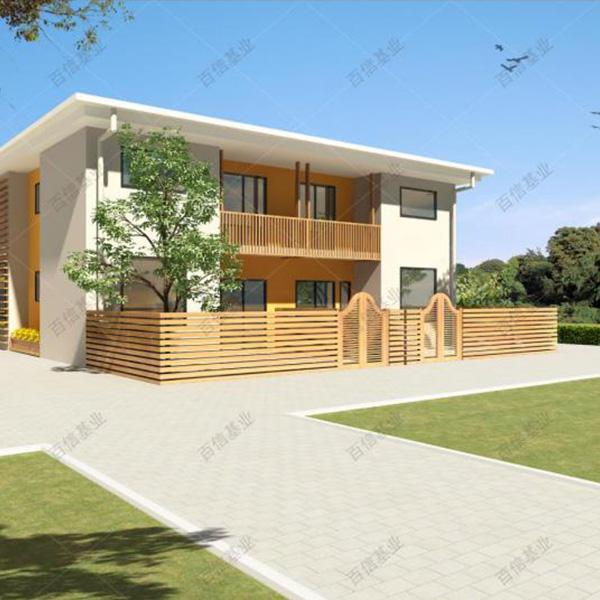 兩層簡約現代造型輕鋼別墅