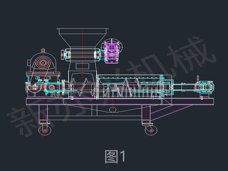 双螺旋压榨机结构图