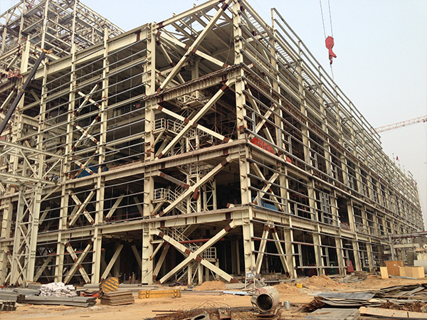 华润唐山西郊电厂主厂房框架