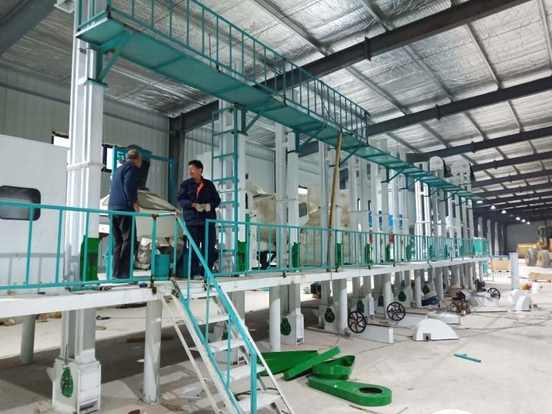 主动化大米出产流水线