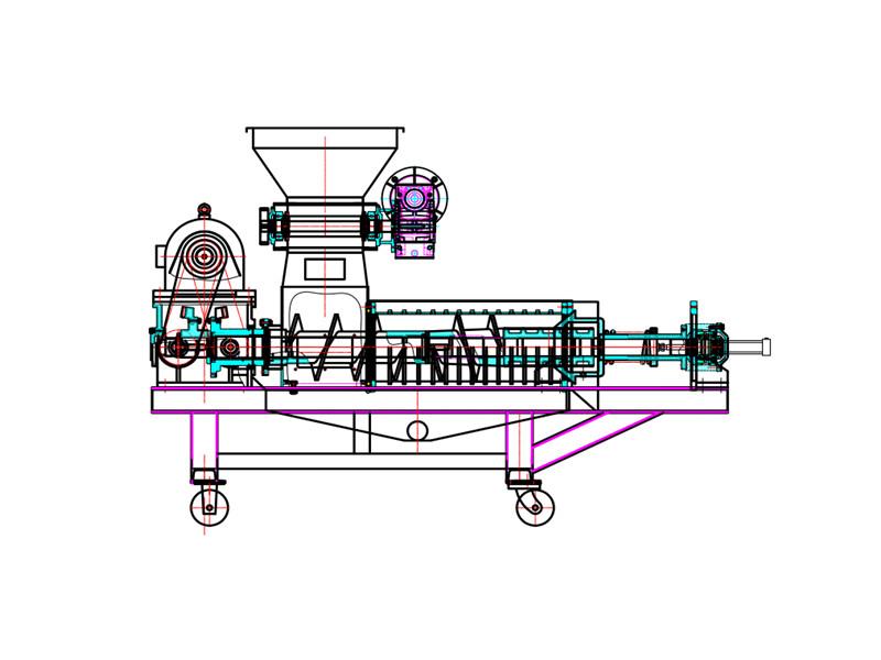 垃圾压榨机结构图