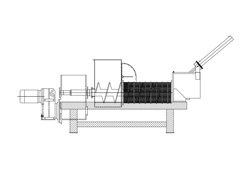 单螺旋压榨机结构图