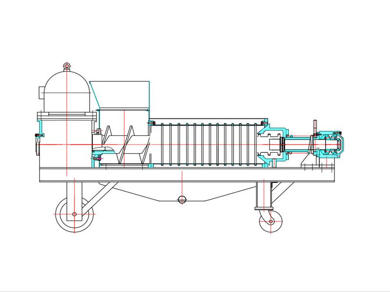 双螺旋压榨结构图