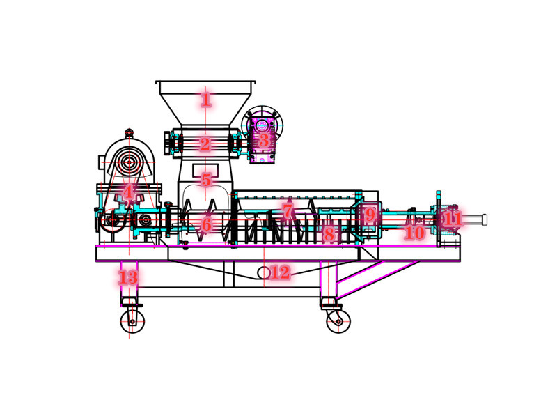 垃圾压榨机详解图