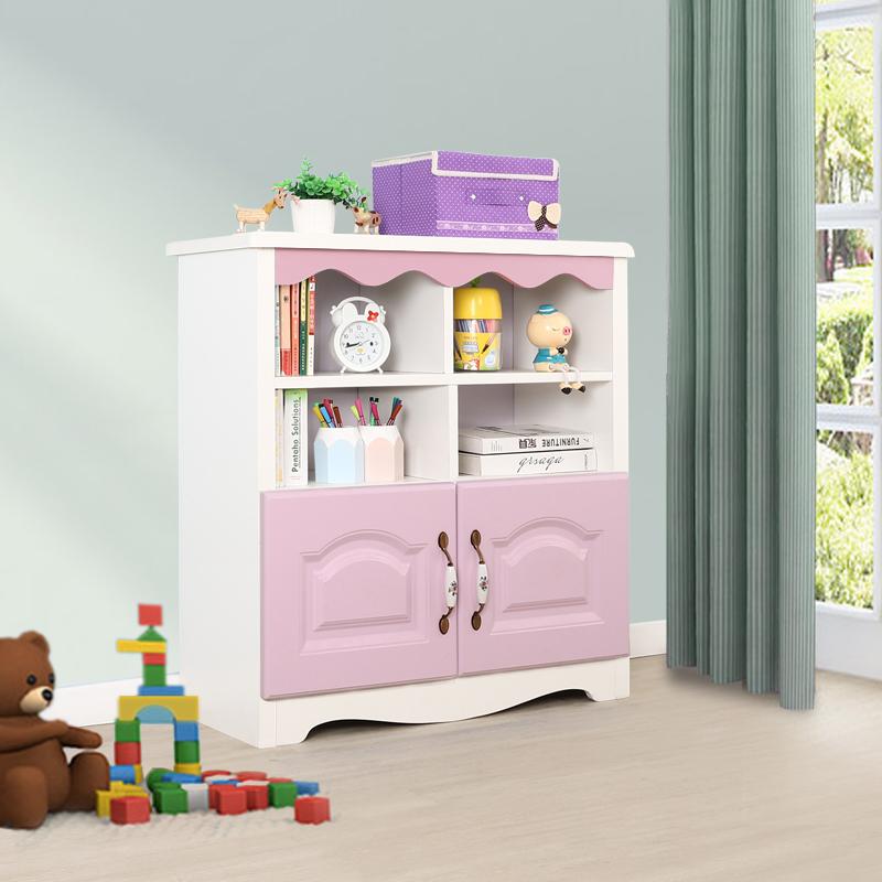60低书柜带柜门-粉色