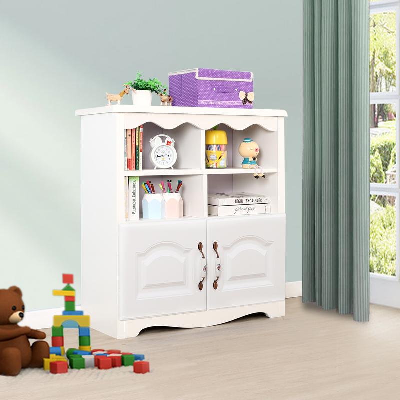 60低书柜带柜门-白色