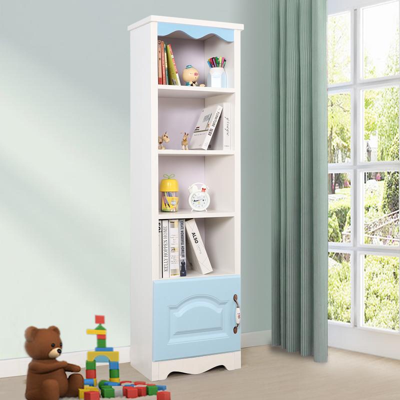 40高书柜有门-蓝色