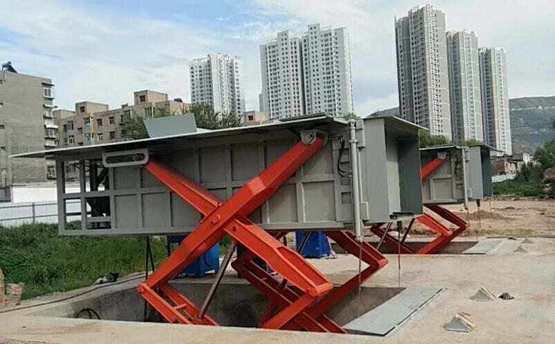 地埋式水平压缩垃圾站的现场图片