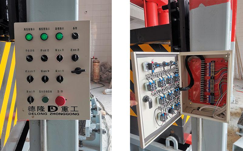 垂直式垃圾站压缩设备控制面板