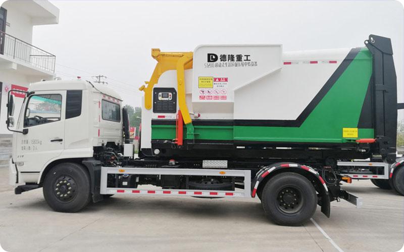 移动式垃圾压缩设备可压缩处理城市垃圾