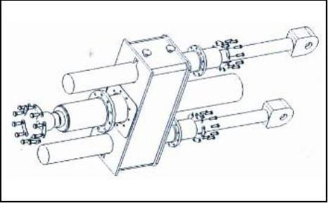 垂直式垃圾压缩站三支接力油缸