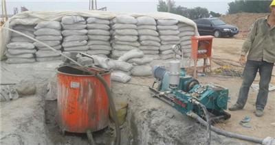 广州客户bw150注浆泵使用现场