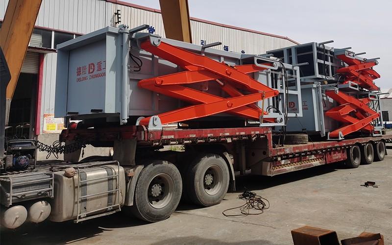 贵德县地埋式垃圾压缩设备发货现场