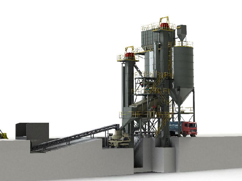 机制砂生产线(模控筛型)
