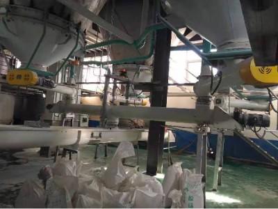 螺旋定量给料机生产线现场调试
